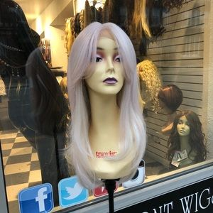 Accessories - Pink super duper lite pink/vanilla long thick wig